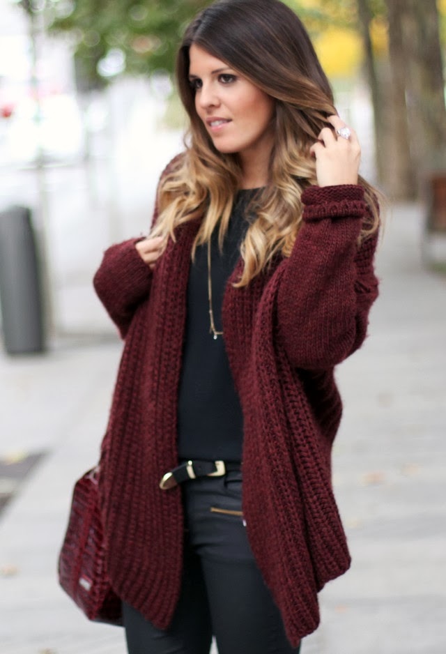 Lovely Over Sized Cardigan and Suitable Pants and Belt