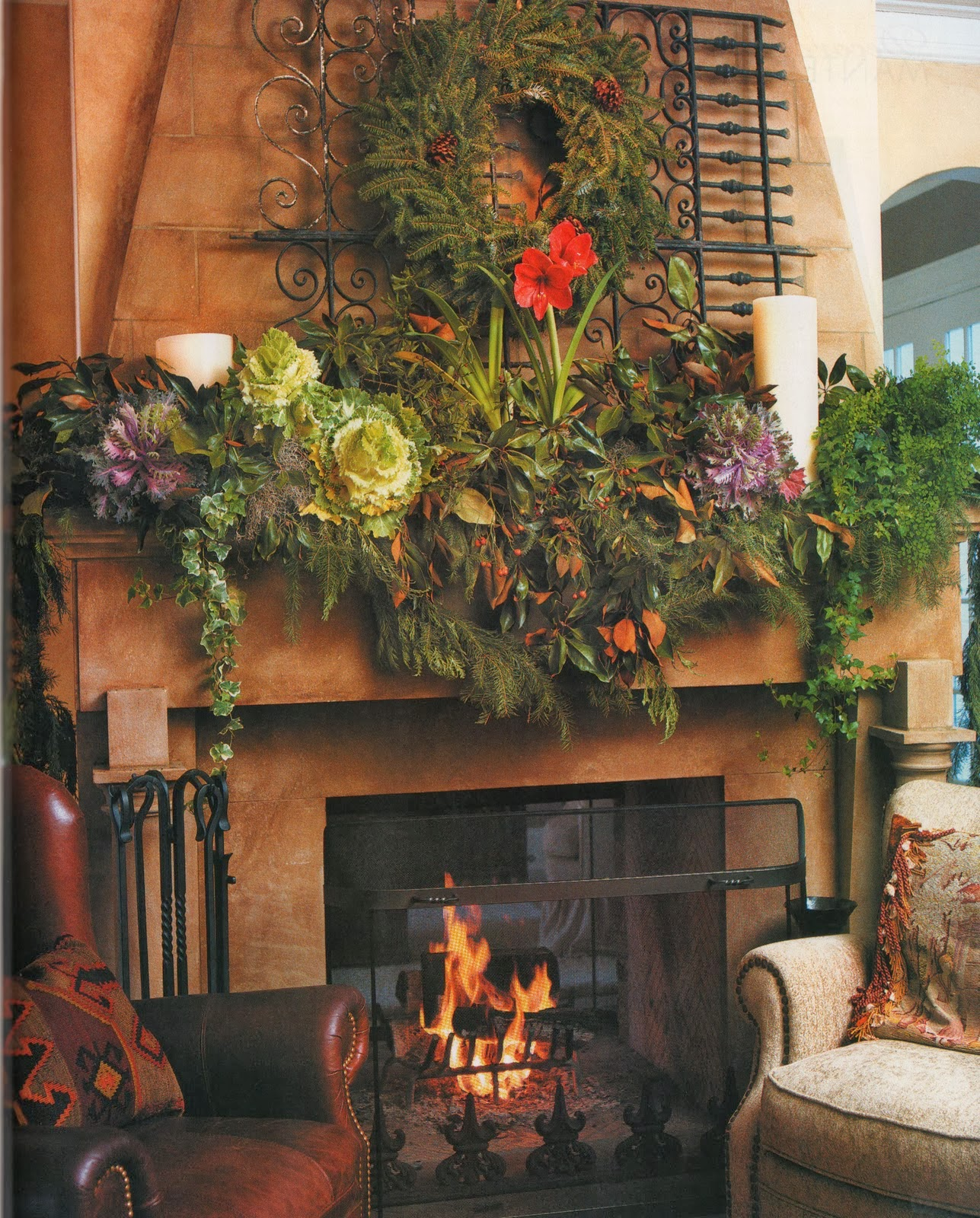 shabby in love inspiring christmas fireplace mantel