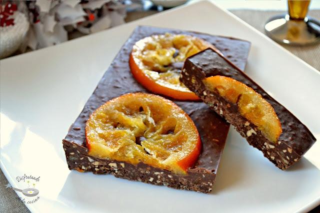 Turrón de chocolate y naranja