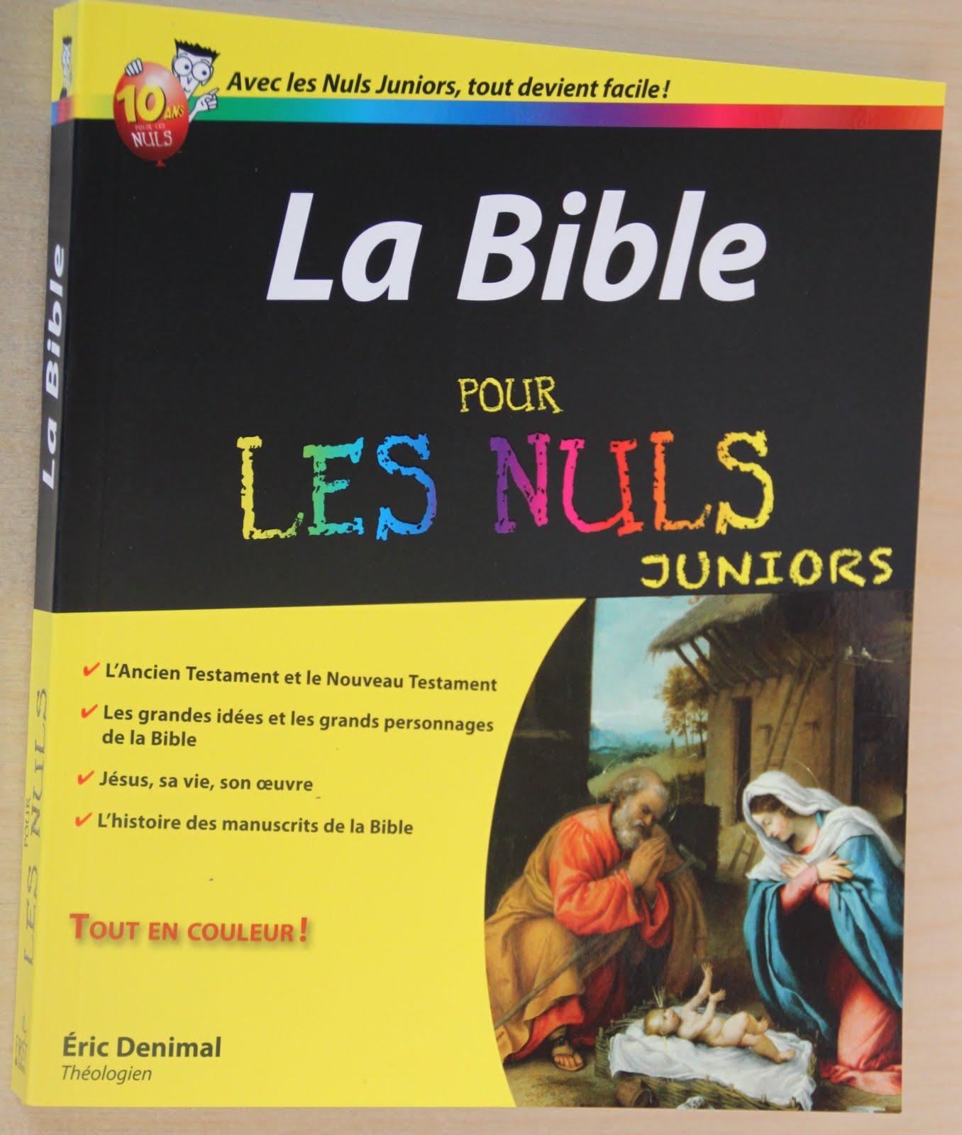 La bible pour les nuls juniors eric denimal le cdd librairie dioc saine - La bible pour les nuls ...
