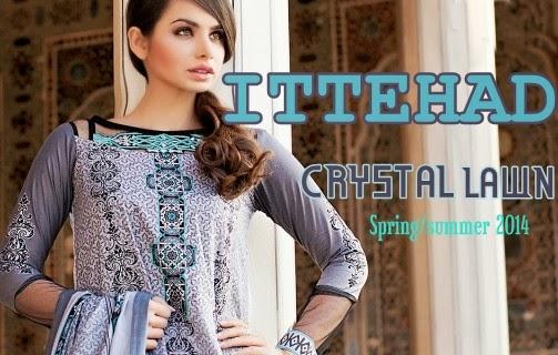 Ittehad Crystal Lawn 2014