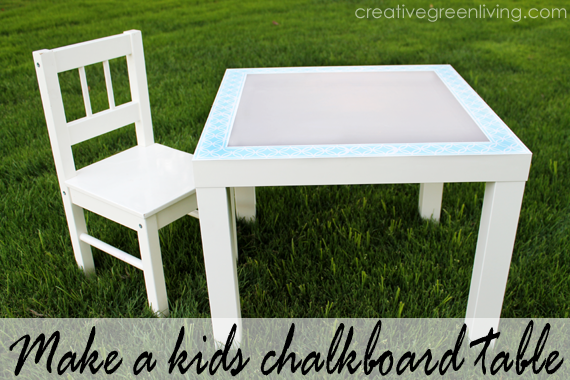 Superb How To Paint A Chalkboard Table For Kids