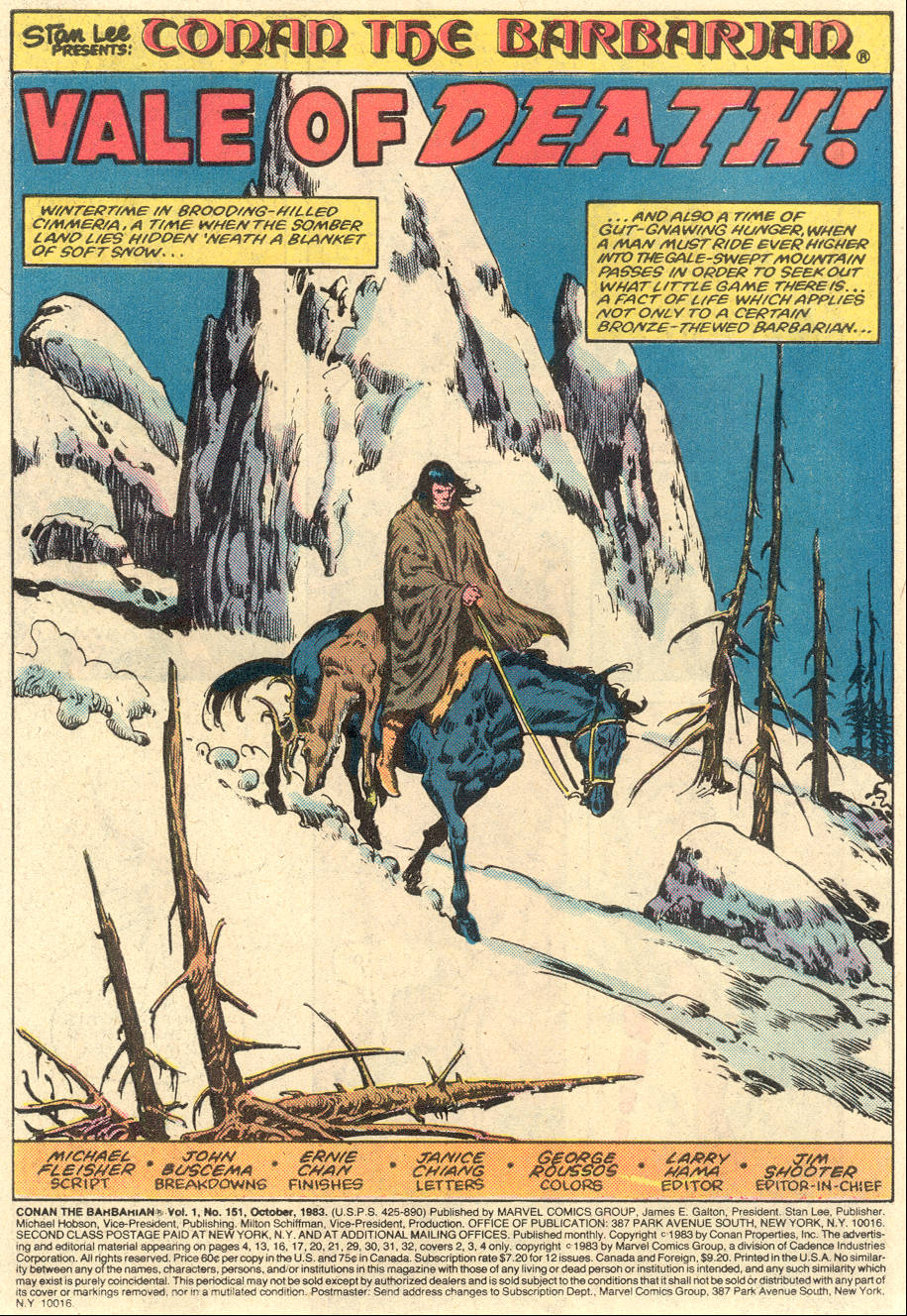 Conan the Barbarian (1970) Issue #151 #163 - English 2