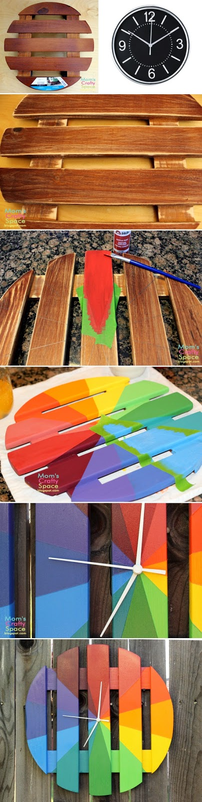 DIY Colorful Outdoor Clock (From a Plant Stand!)