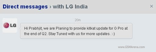 LG Optimus G Pro to get the KitKat treatment by the end of Q2