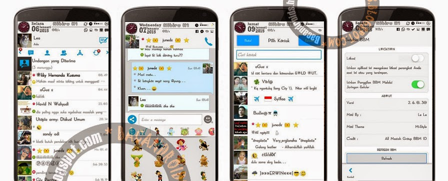 Download BBM Mi-Style Fast and Simple Versi 2.6.0.30 New Version terbaru