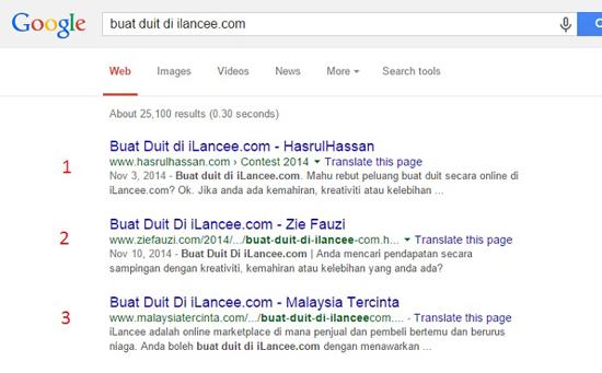 Menerusi SEO, bisnes anda mudah dicari menerusi Google