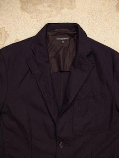 "Engineered Garments ""Baker Jacket in Navy Uniform Serge"" Fall/Winter 2015 SUNRISE MARKET"