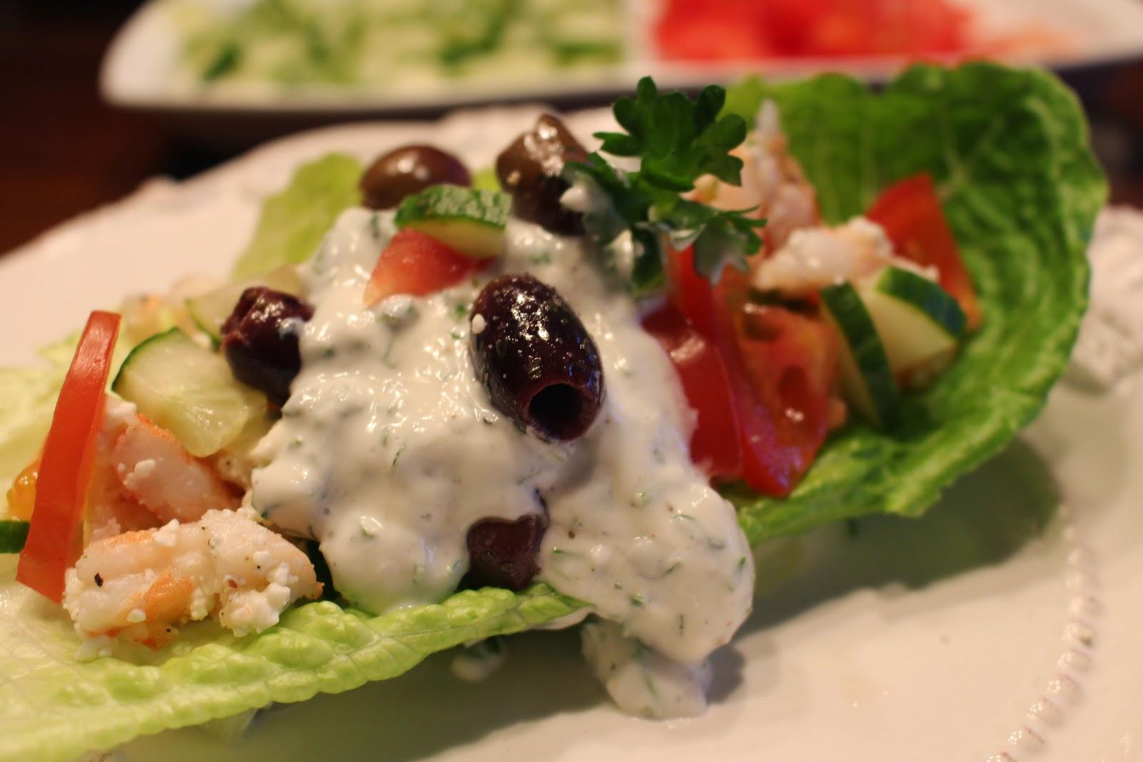 Greek Pita Wrap Greek Shrimp Lettuce Wrap