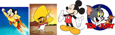 New idea, Mighty Mouse, Speedy Gonzales, Mickey Mouse, Jerry, Super Mouse