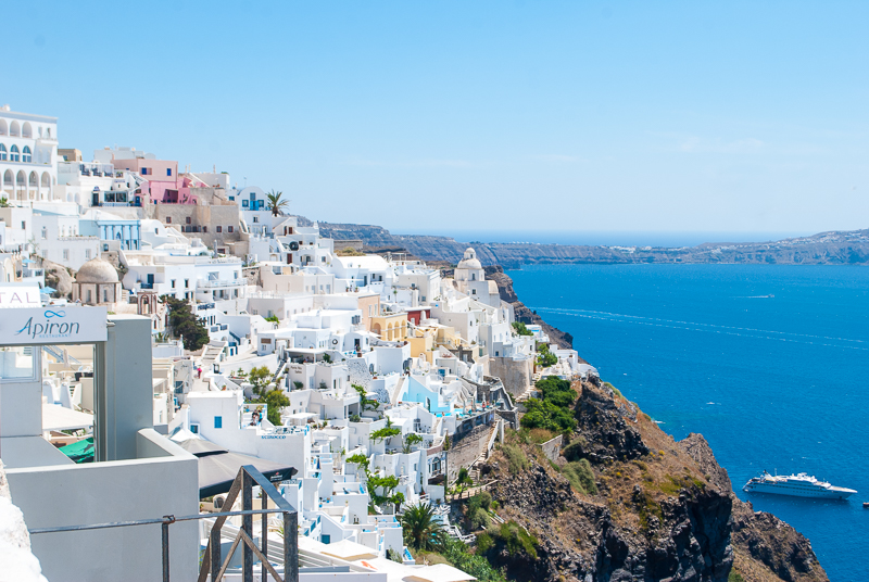 iconic fira santorini, greece landscape