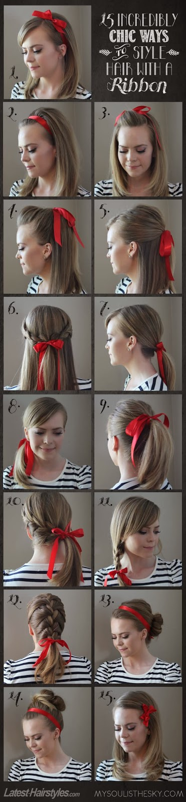 15 Incredibly Chic Ways to Style Hair With a Ribbon