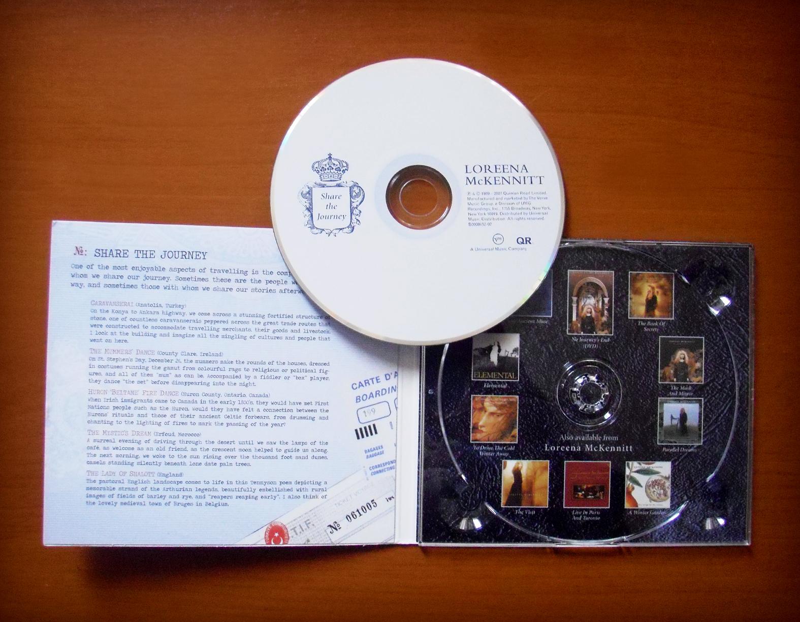 loreena mckennitt collection 2007 share the journey borders