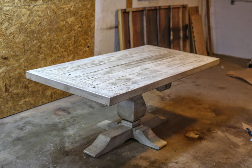 The Weston Pedestal In Rustic Cream | Handcrafted Rustic Furniture | Rustic  Trades Furniture