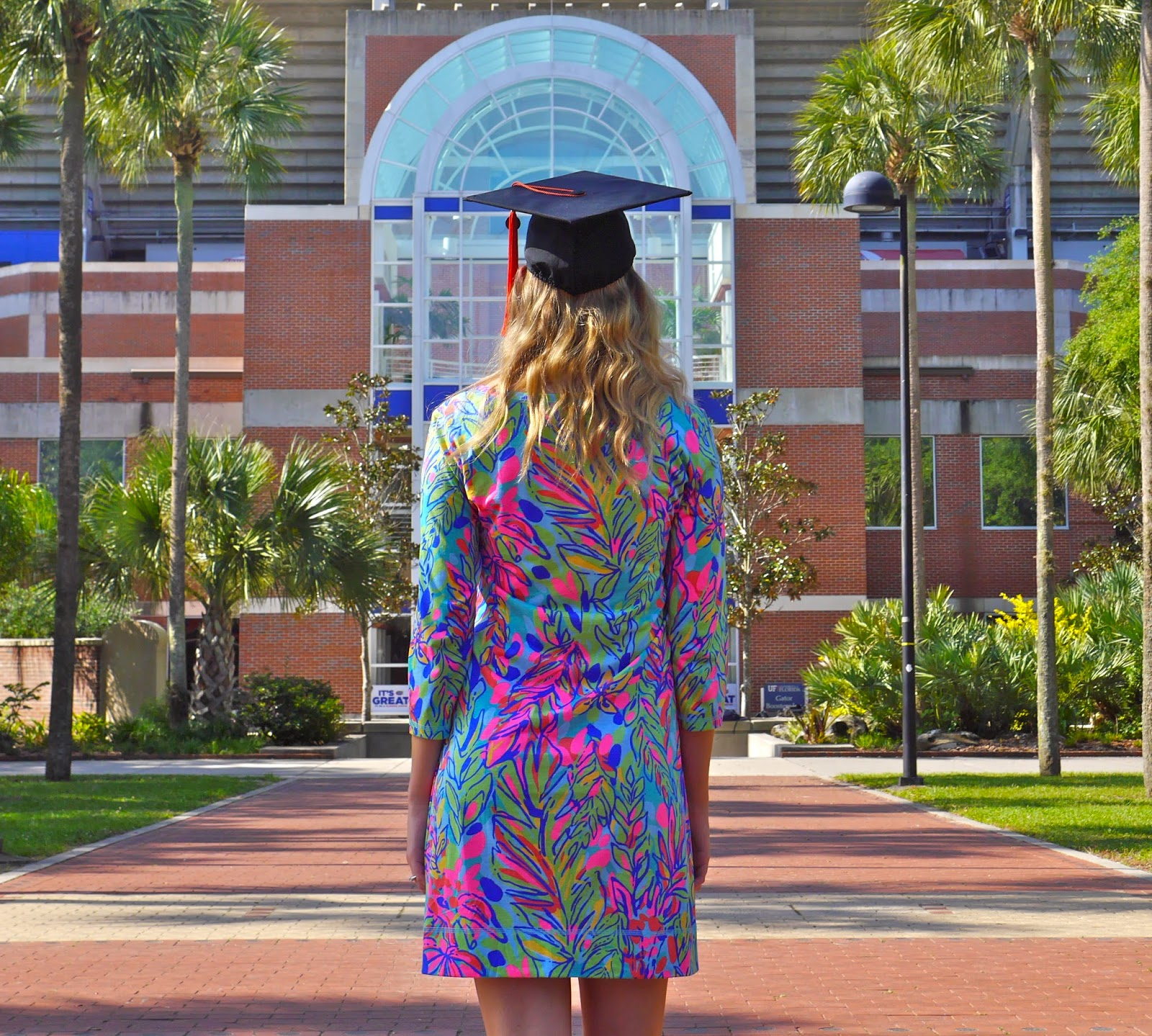 lilly pulitzer hot spot dress graduation cap