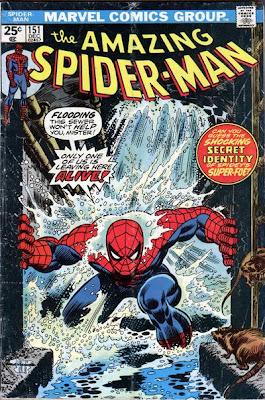 Amazing Spider-Man #151, shocker, flooding sewer