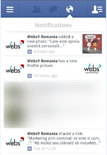 Facebook Notification from Business Page