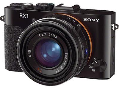 Fotografia della Sony RX1 di tre quarti