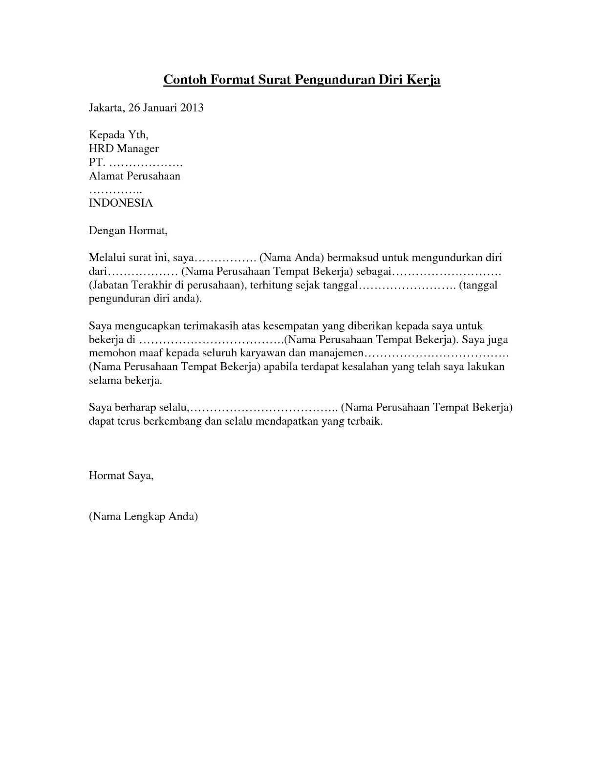 31++ Contoh surat pengunduran diri wali kelas terbaru terbaru