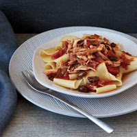 Rabbit Ragout with Soppressata and Pappardelle