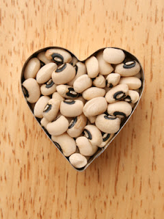 Black Eyed Peas in a Heart Cookie Shape