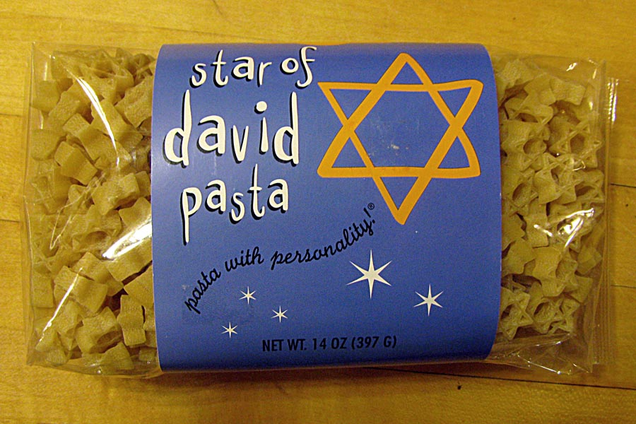 Star of David Pasta from Bed Bath and Beyond