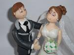 Topo de bolo com noivos personalizados