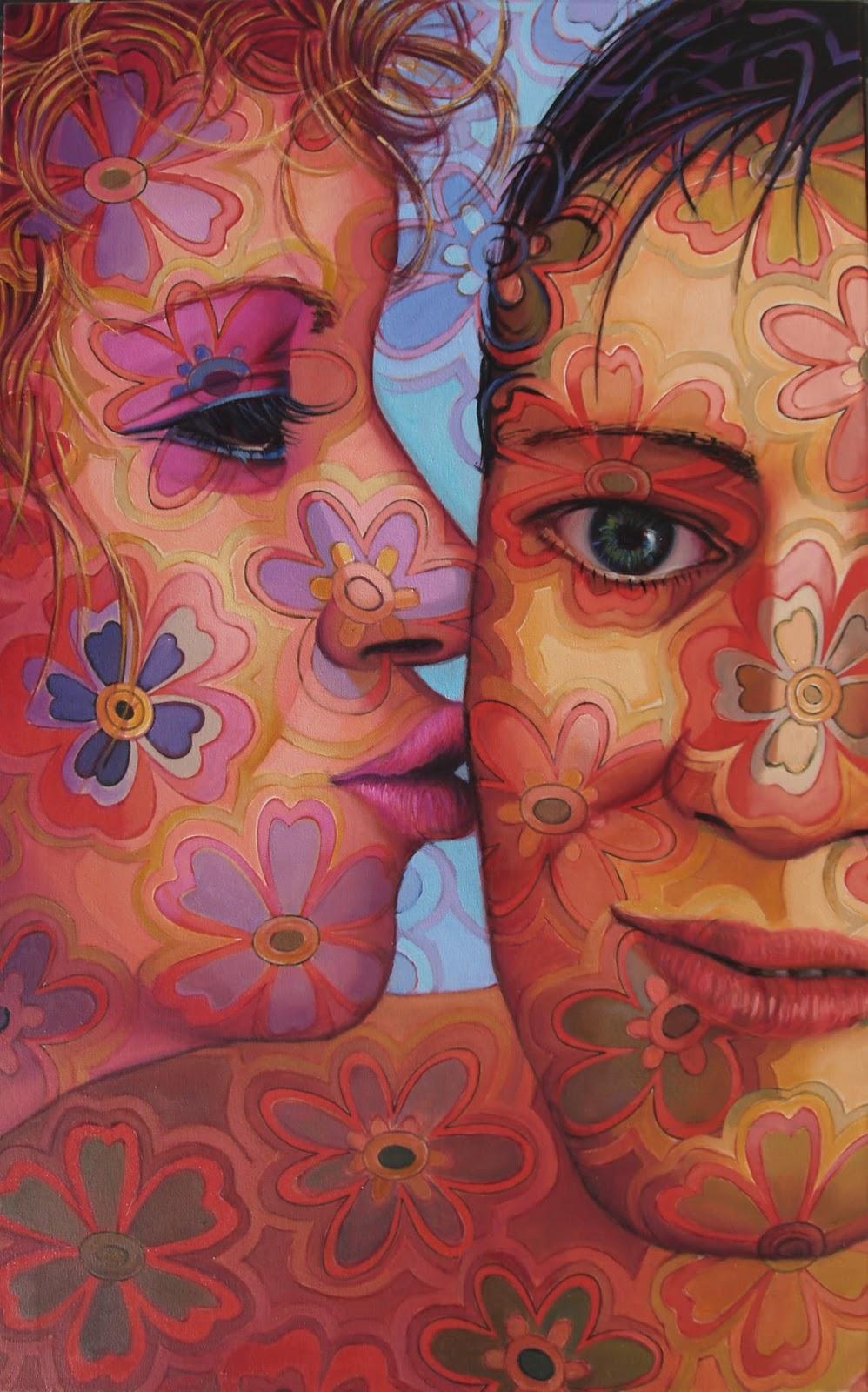 Cuadros juan ruiz ib ez retratos de gran formato - Cuadros de besos ...