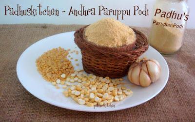 Andhra Paruppu Podi-Kandi Podi