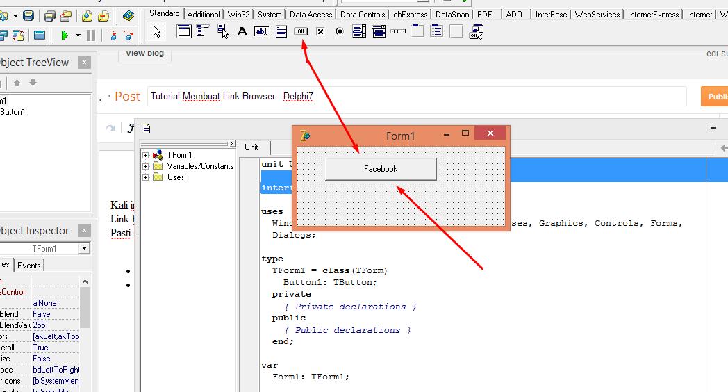 Tutorial Membuat Link Browser - Delphi7 - Indah Hidup