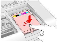 cerrar puerta de cartucho impresora Epson T50