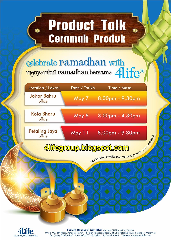 foto Ceramah Produk - Menyambut Ramadhan Bersama 4Life