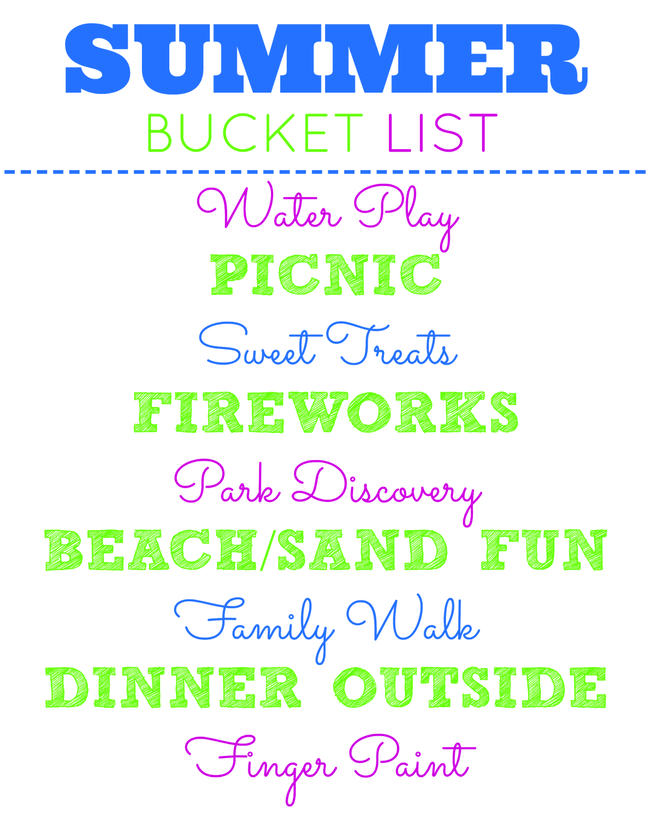 Guys Bucket List Last Summer Bucket List