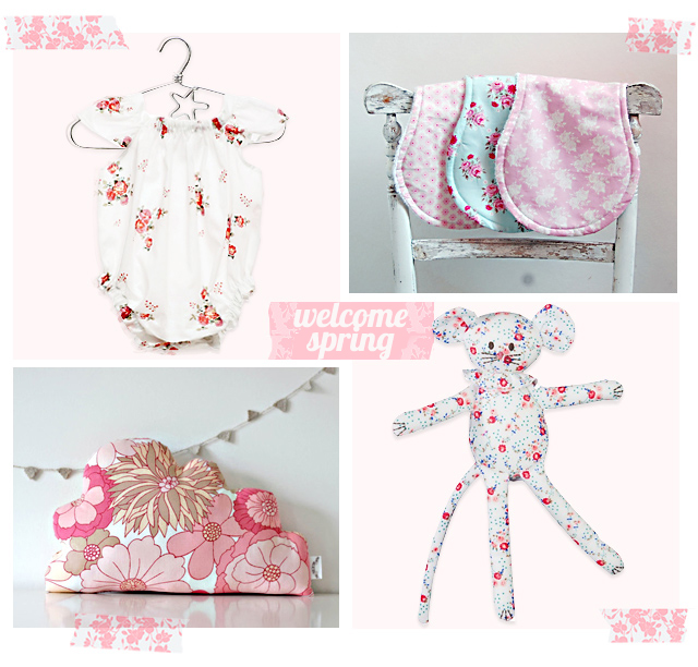 welcome spring with floral themes for babies and kids