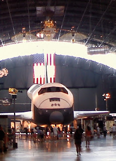 enterprise space shuttle replica at udvar hazy