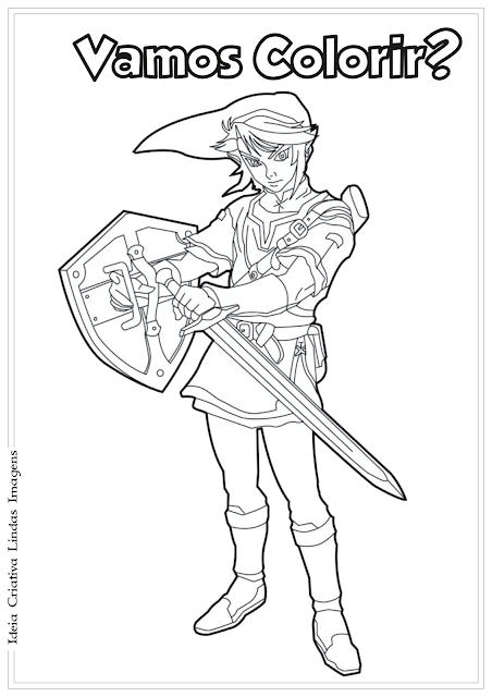 Link - Legend of Zelda desenho para coo