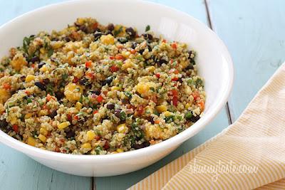 Southwestern Black Bean, Quinoa, and Mango Medley - SkinnyTaste