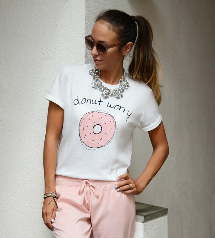 maglietta ciambella rosa