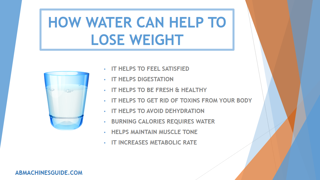 drinking water to lose weight in a week - drink