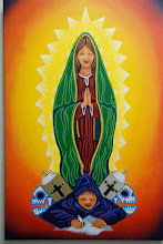 La Virgen watching over