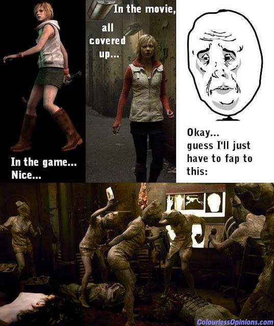 Silent Hill 3 Revelation Heather skirt game movie still