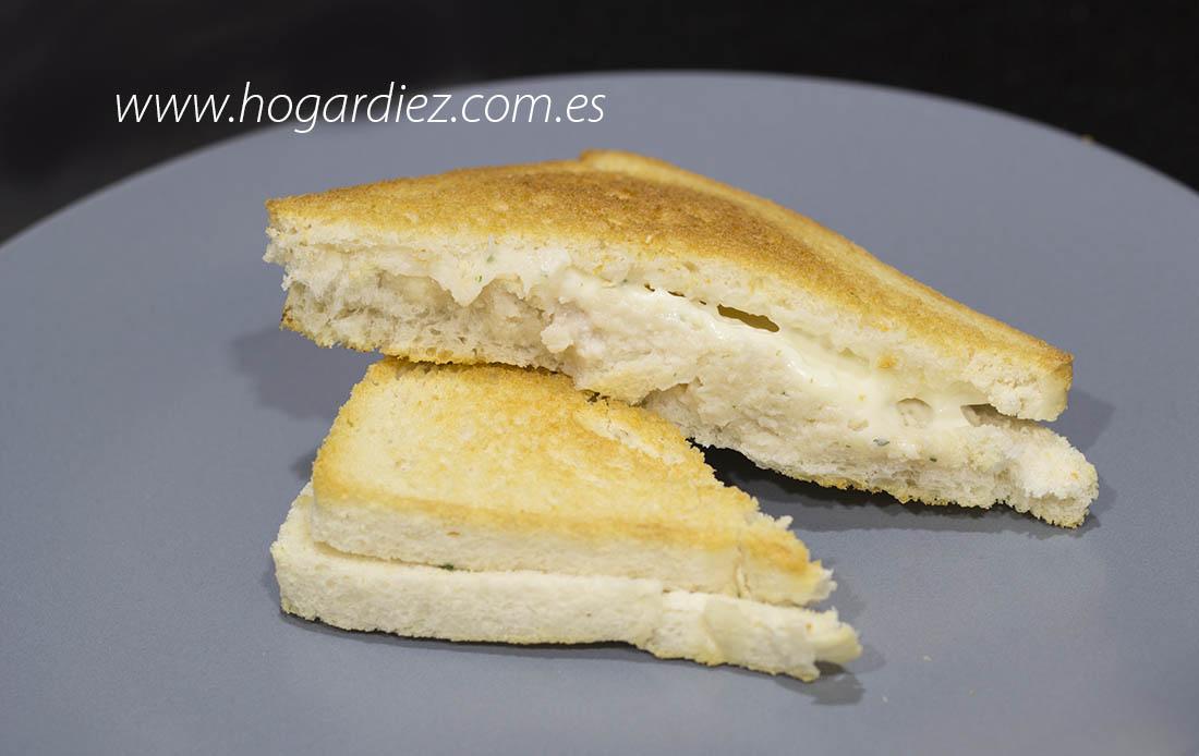 Sandwich de pollo en el horno
