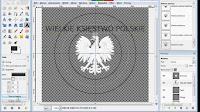 Rysowanie napisu za ścieżką - gimp - zrzut ekranu