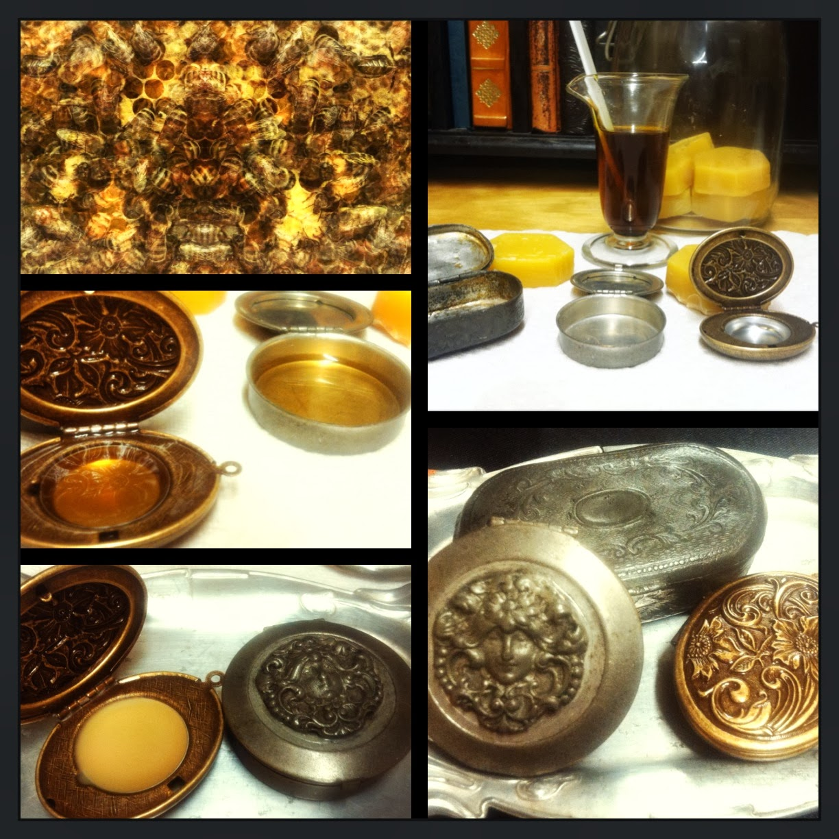 Customized Solid Perfume in Vintage Art Deco Glamour Compact