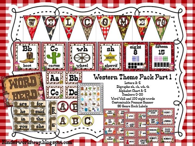 Western Classroom Decor : Kinderworld western theme classroom decor packs