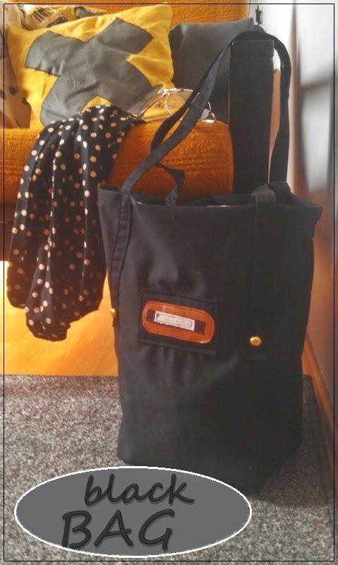 Czarna torba + sernik z musem malinowym - z serii uszyte #9