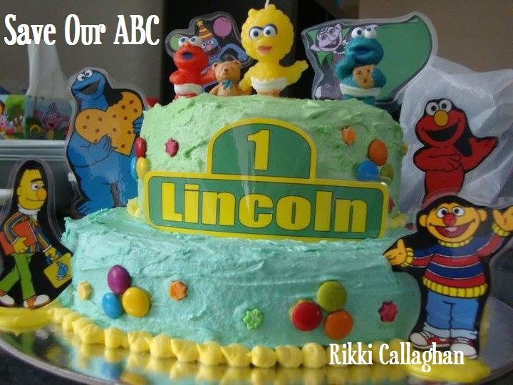 Sesame Street  Cake Save our ABC