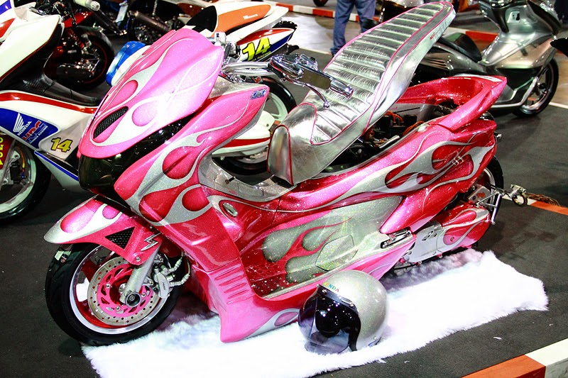 modifikasi motor honda pcx 150  paling bagus