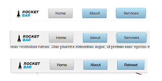 An animated menu buttons
