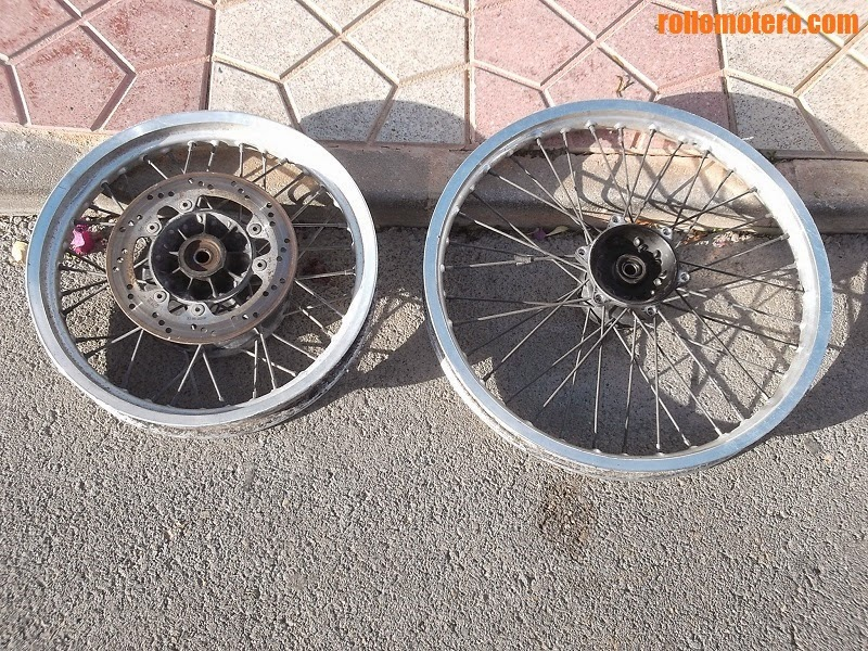 Very used wheels